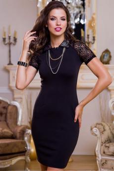 ХИТ продаж: маленькое черное платье с кружевными рукавами Angela Ricci