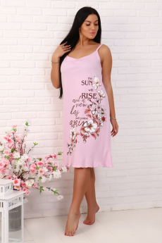 Новинка: розовая хлопковая сорочка Натали